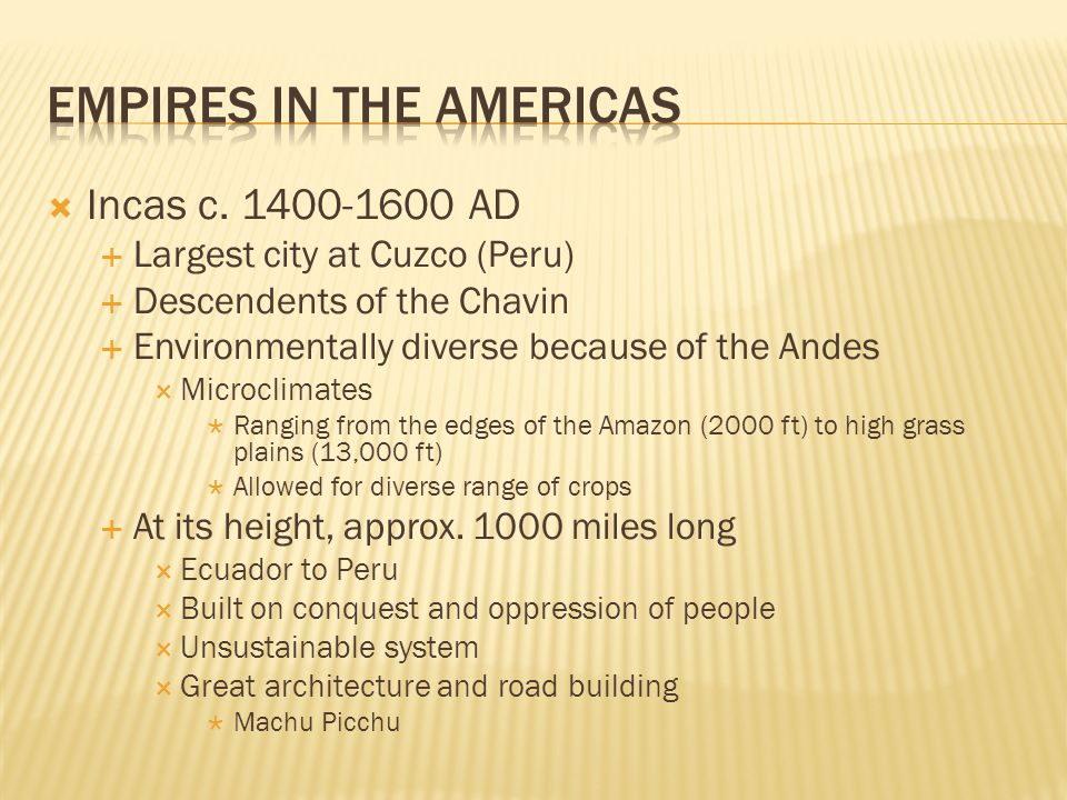 Empires in the Americas