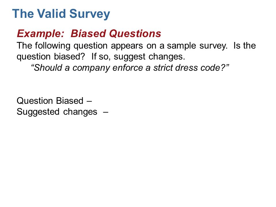how to ask unbiased survey questions