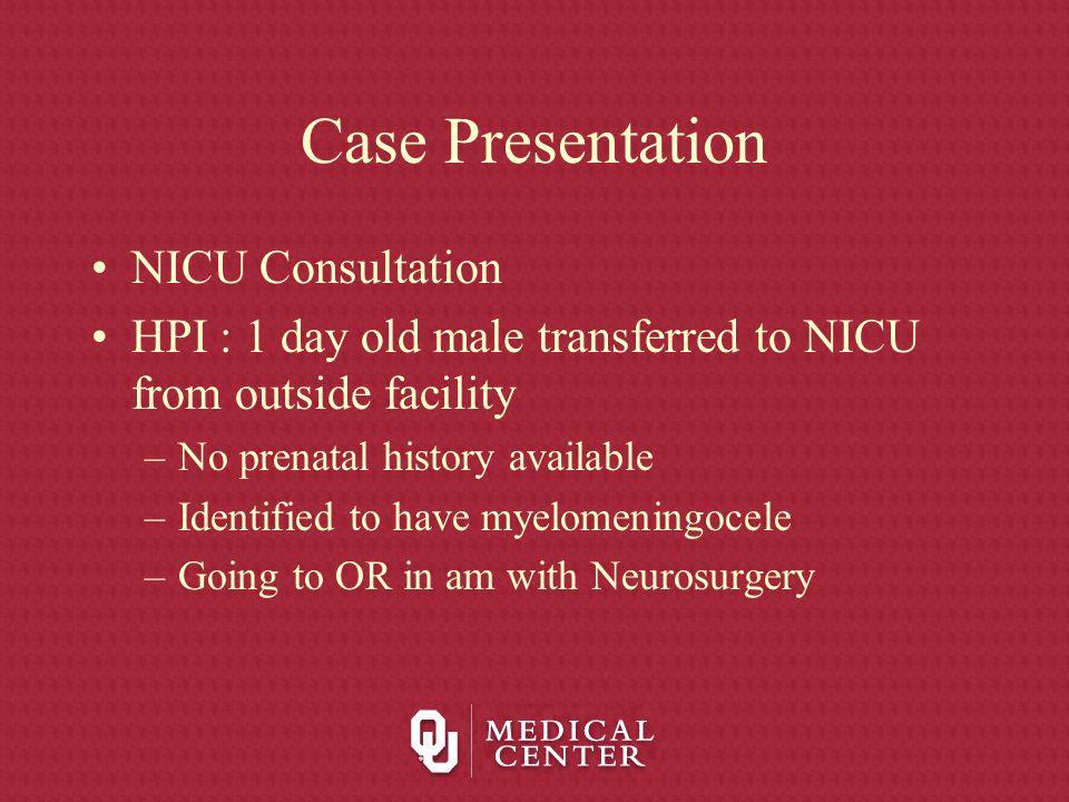 Case Presentation NICU Consultation