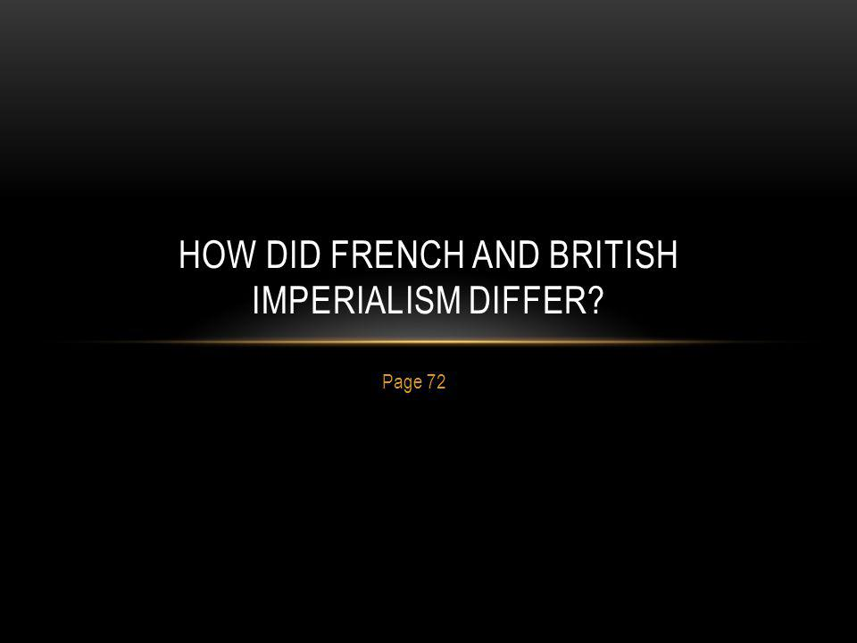 How did french and british imperialism differ