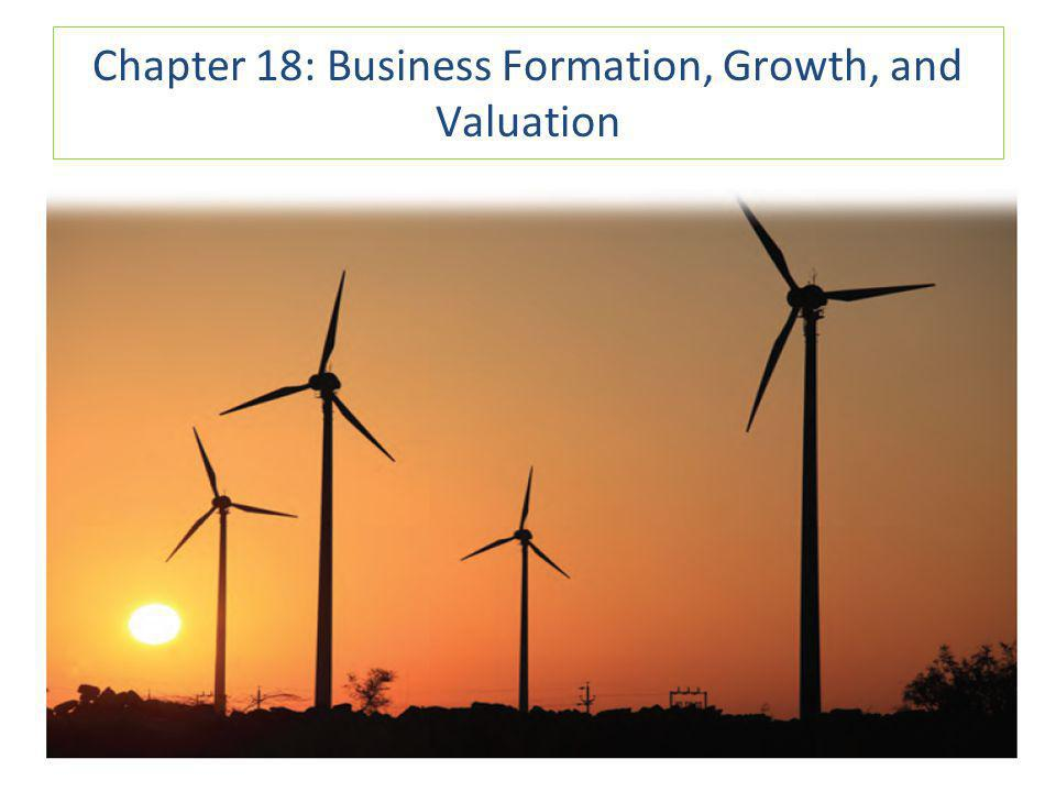 Chapter 18: Business Formation, Growth, and Valuation