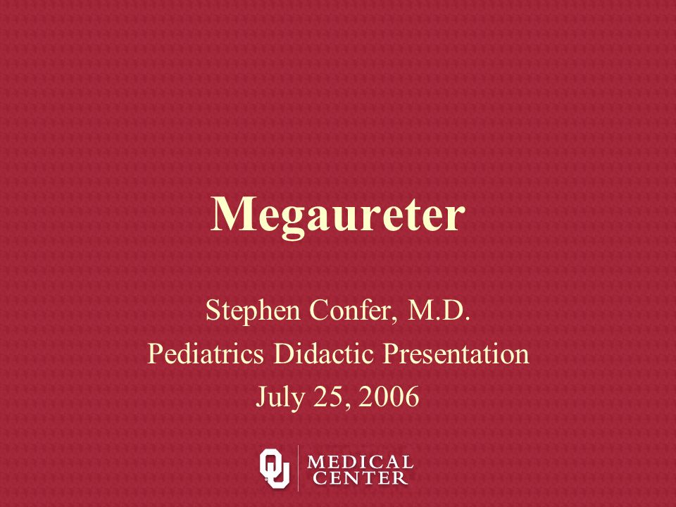 Stephen Confer, M.D. Pediatrics Didactic Presentation July 25, 2006