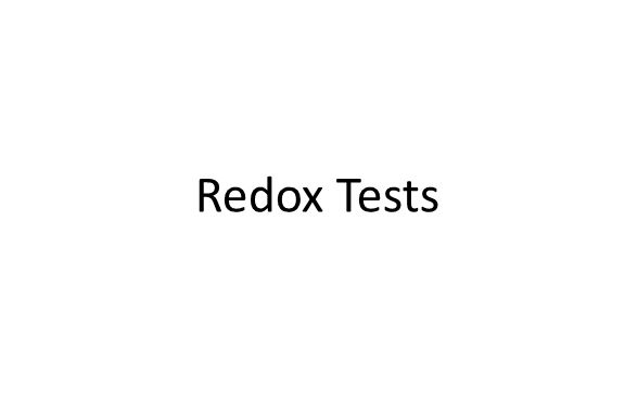 Redox Tests