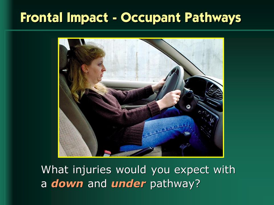 Frontal Impact - Occupant Pathways