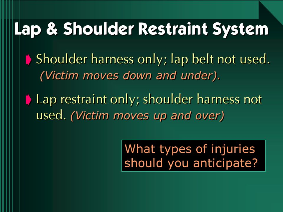 Lap & Shoulder Restraint System