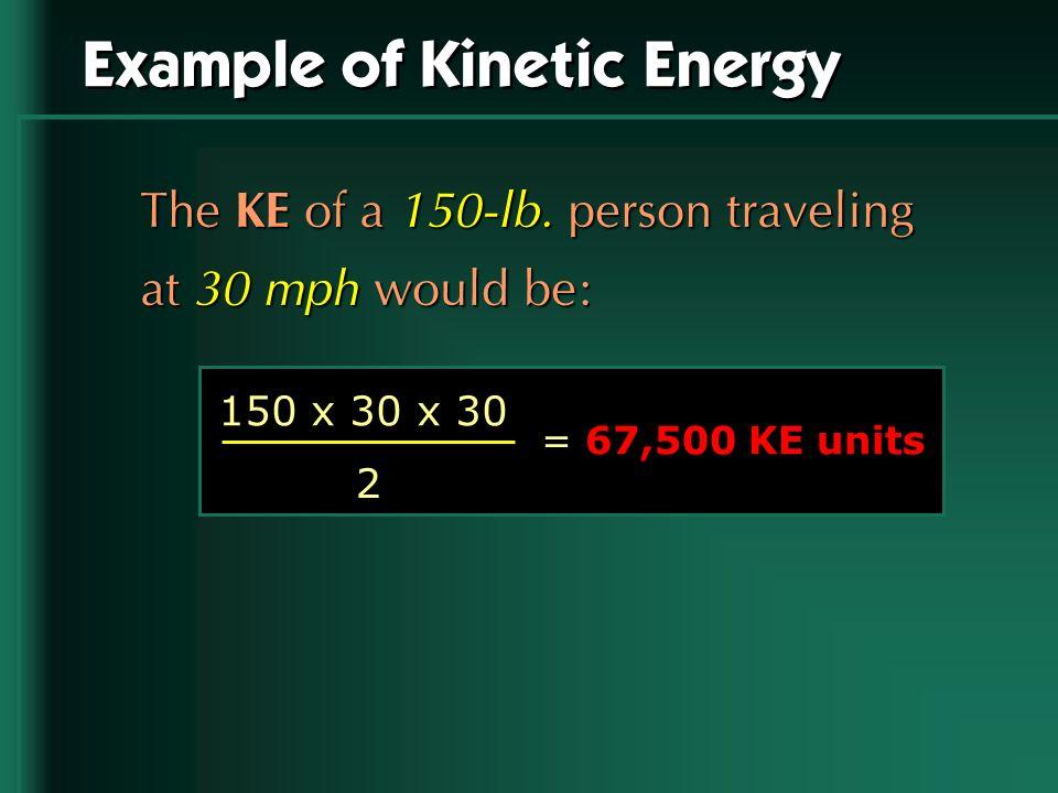Example of Kinetic Energy