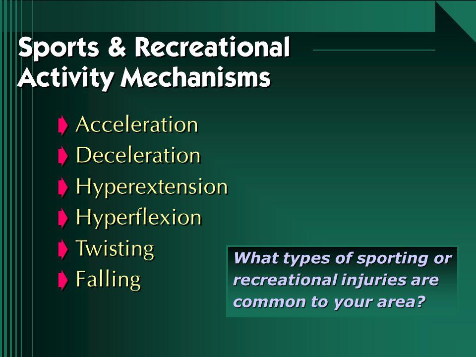 Sports & Recreational Activity Mechanisms
