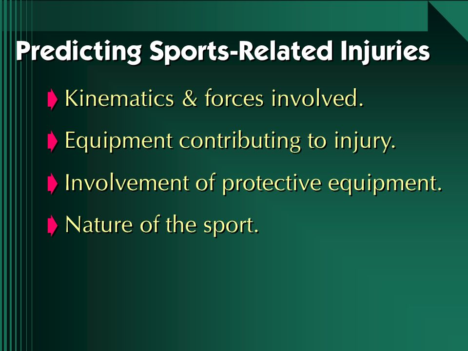 Predicting Sports-Related Injuries