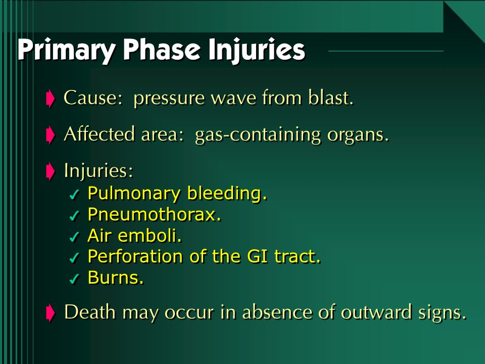 Primary Phase Injuries