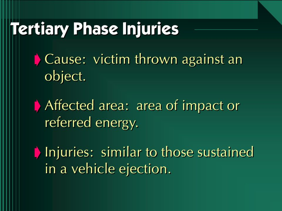 Tertiary Phase Injuries