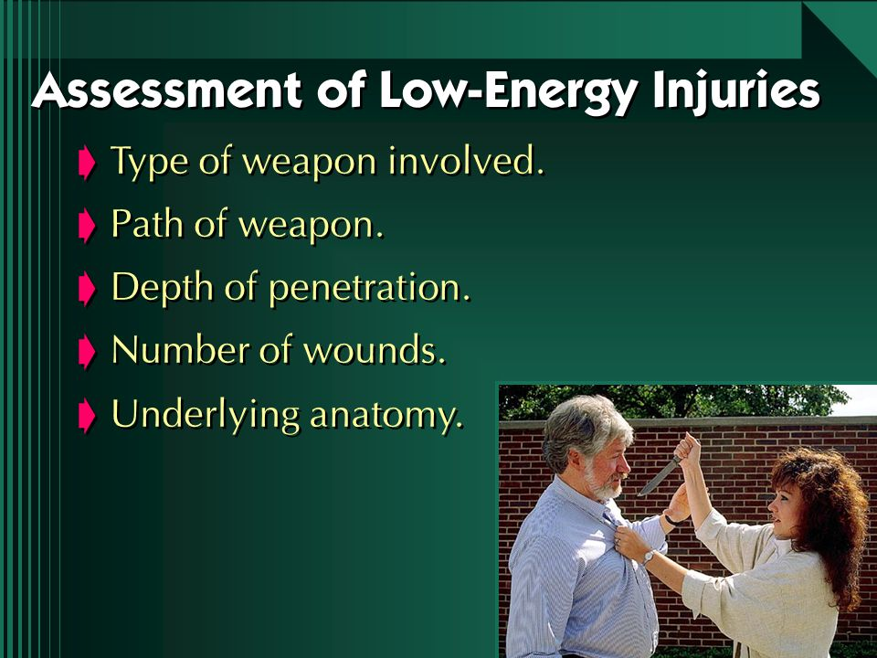 Assessment of Low-Energy Injuries