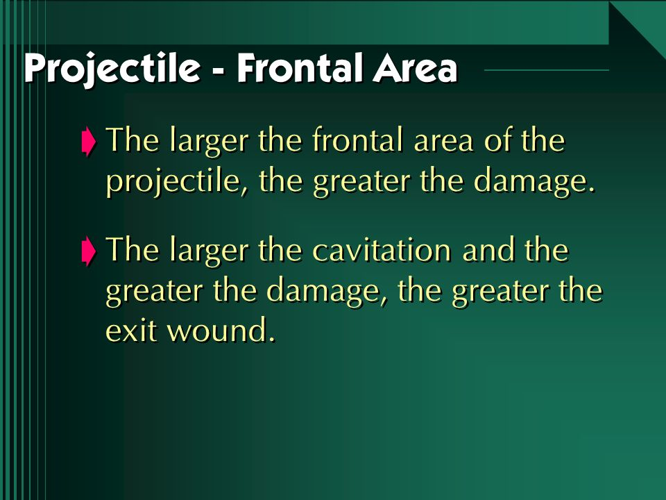 Projectile - Frontal Area
