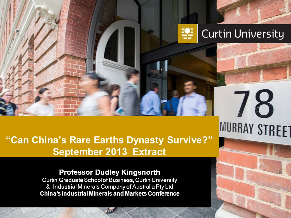 Can China's Rare Earths Dynasty Survive September 2013 Extract
