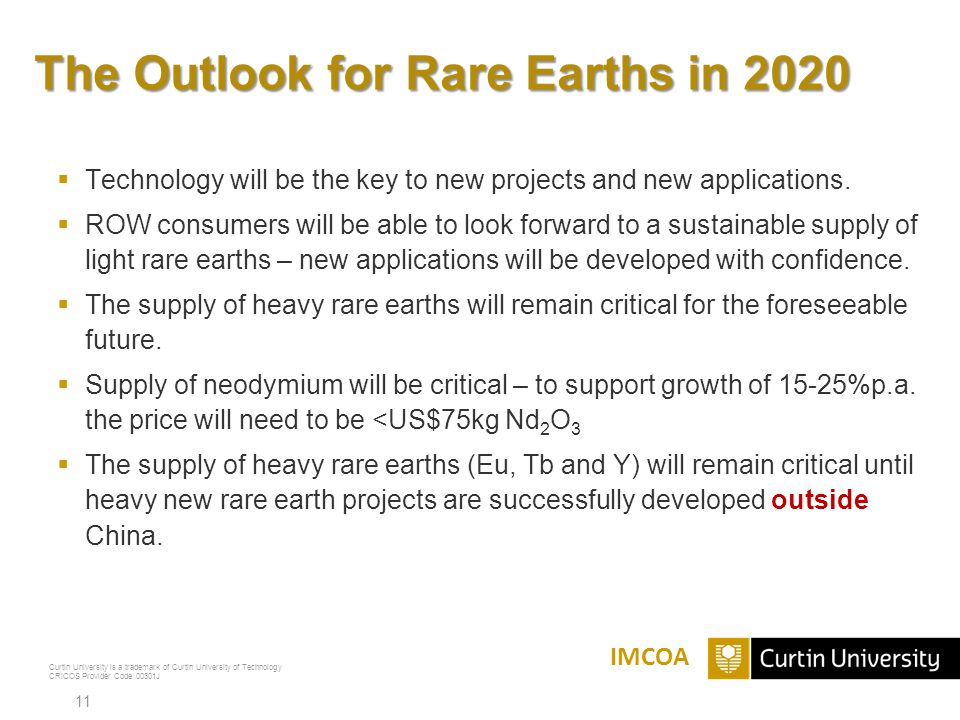 The Outlook for Rare Earths in 2020