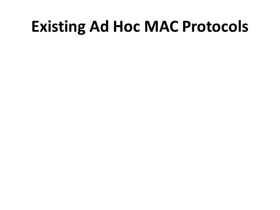 Existing Ad Hoc MAC Protocols