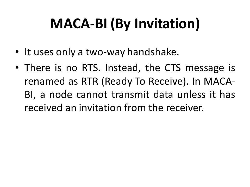 MACA-BI (By Invitation)
