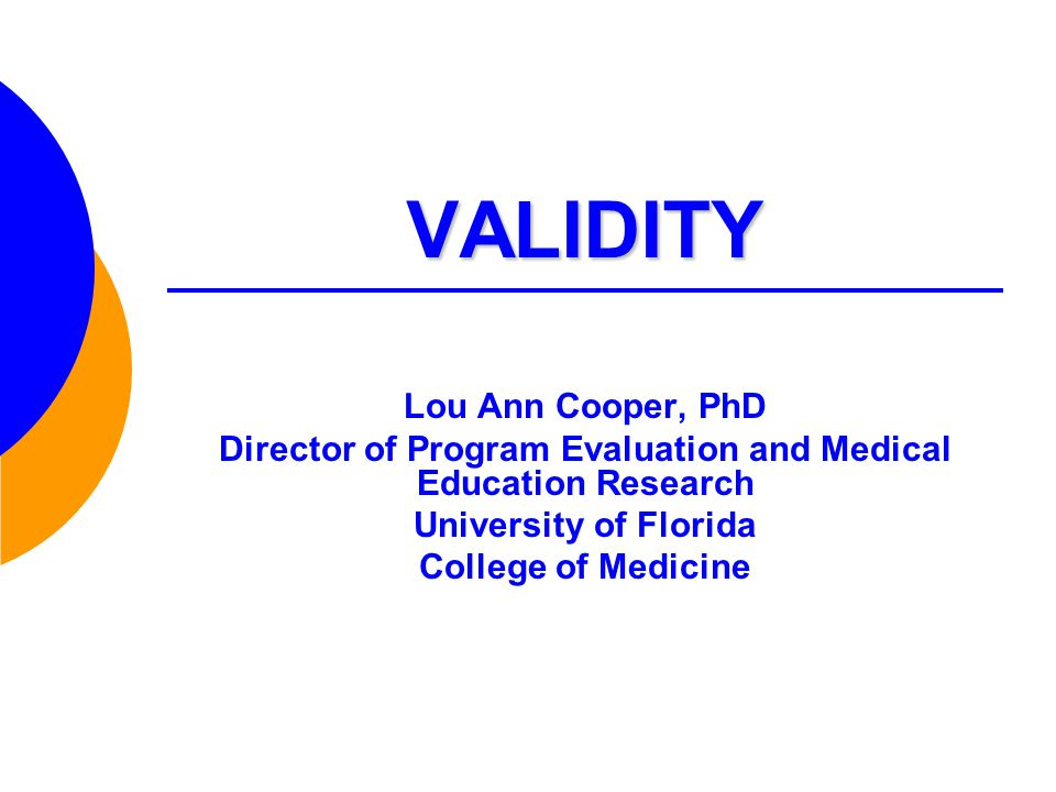 Director of Program Evaluation and Medical Education Research