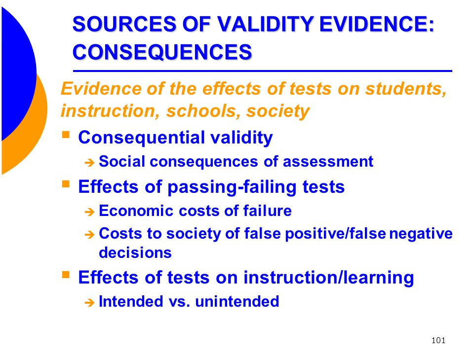 SOURCES OF VALIDITY EVIDENCE: CONSEQUENCES