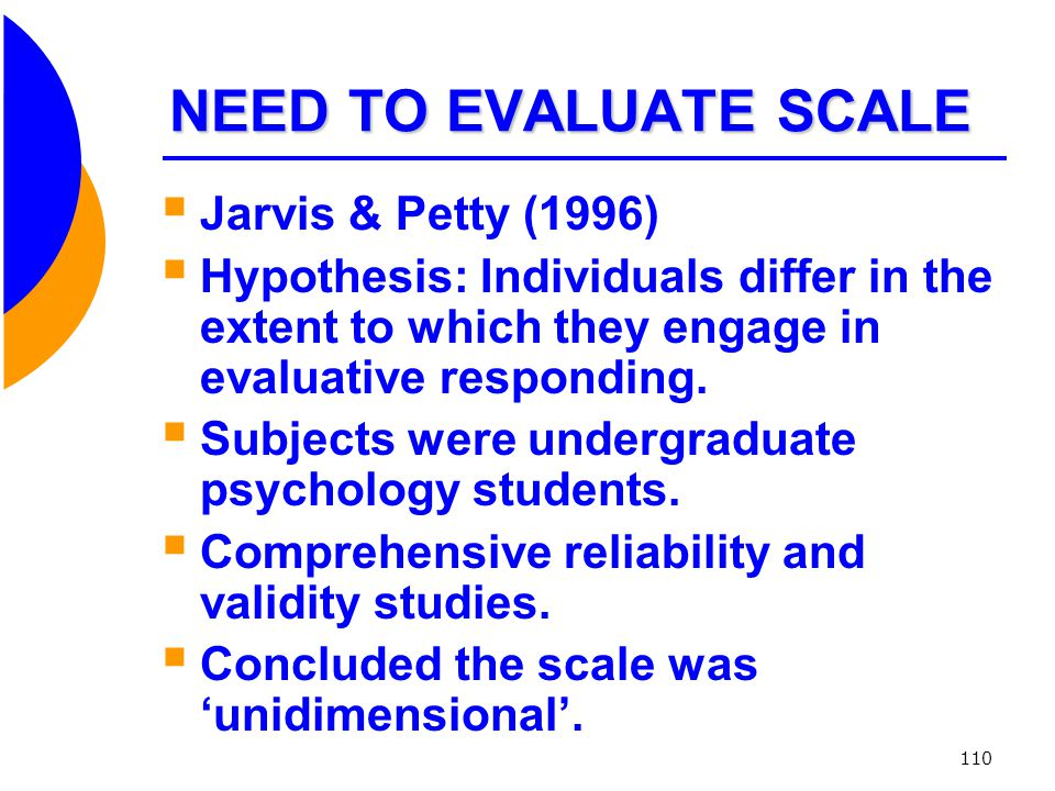 NEED TO EVALUATE SCALE Jarvis & Petty (1996)
