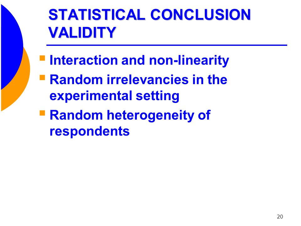 STATISTICAL CONCLUSION VALIDITY