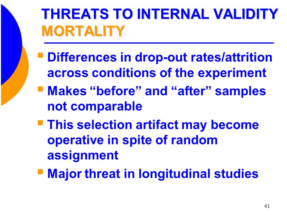 THREATS TO INTERNAL VALIDITY MORTALITY