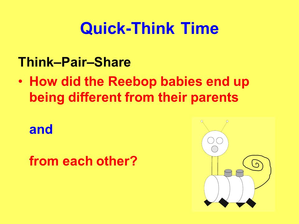 Quick-Think Time Think–Pair–Share
