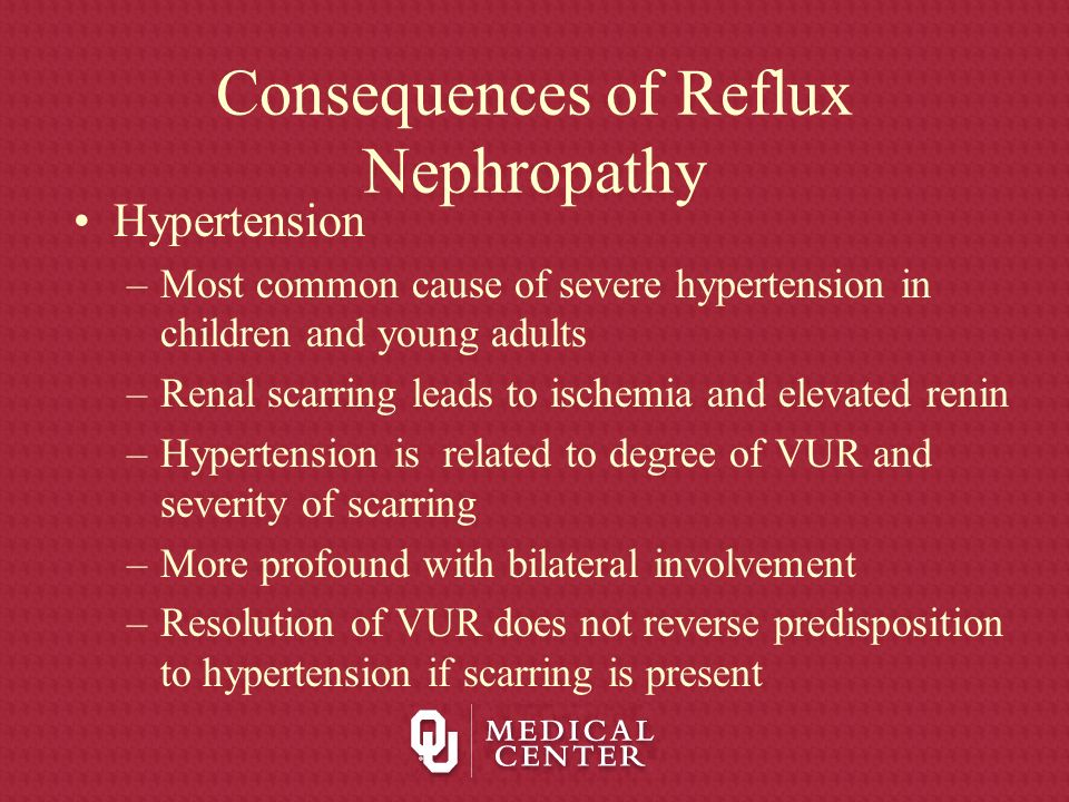 Consequences of Reflux Nephropathy