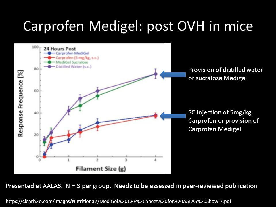 Carprofen Medigel: post OVH in mice