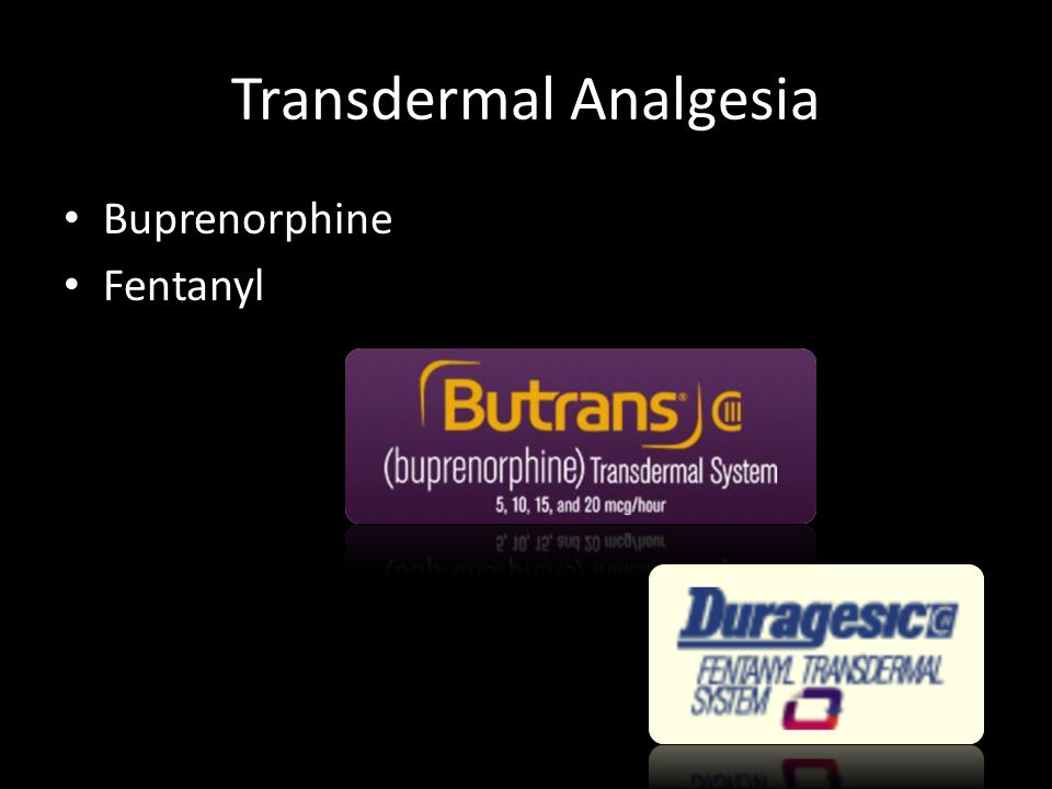 Transdermal Analgesia