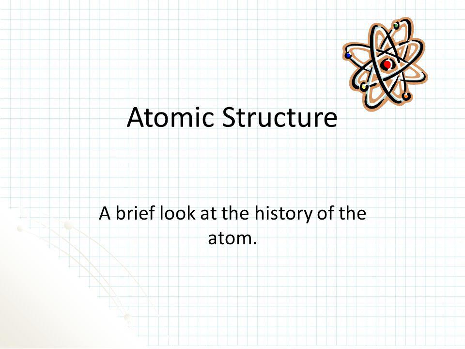 A brief look at the history of the atom.