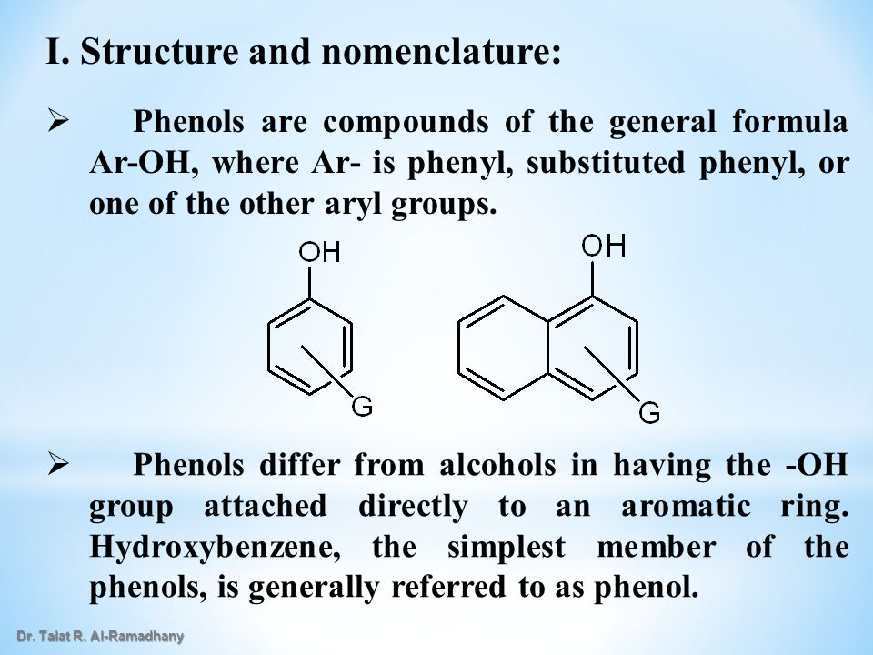 I. Structure and nomenclature:
