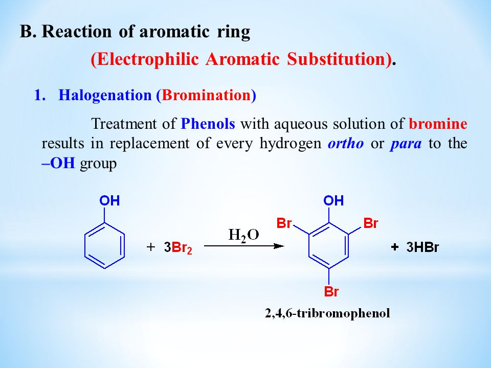 (Electrophilic Aromatic Substitution).
