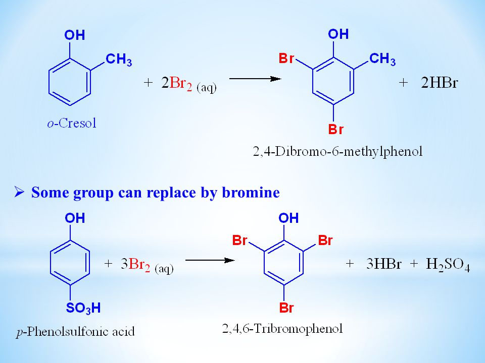 Some group can replace by bromine