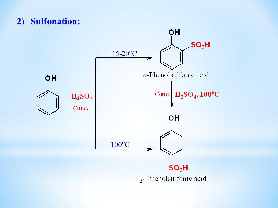 Sulfonation: