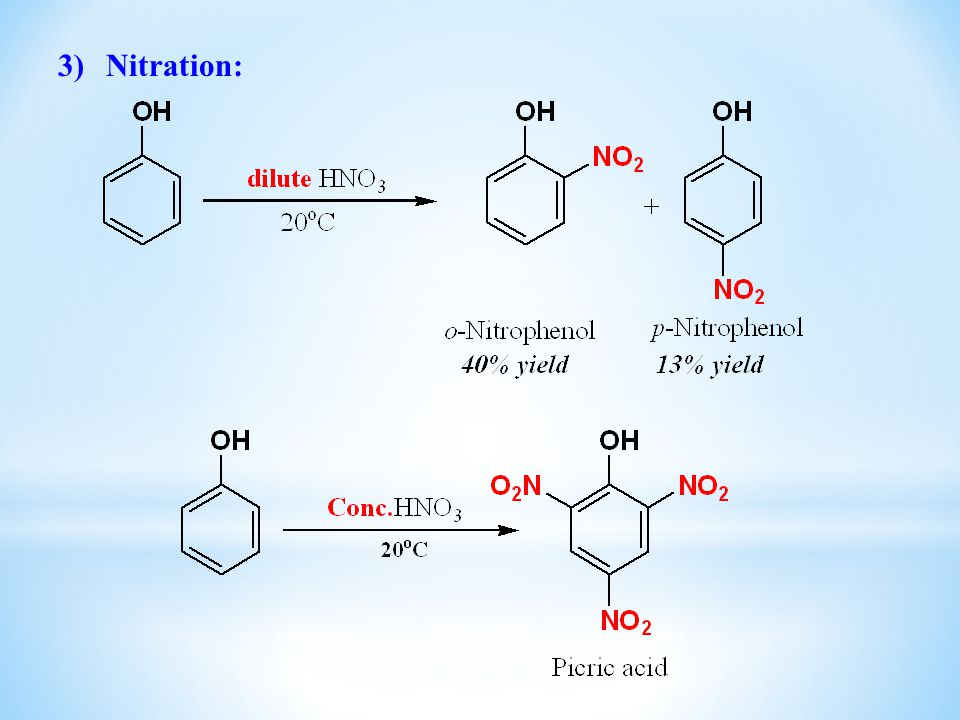 Nitration: