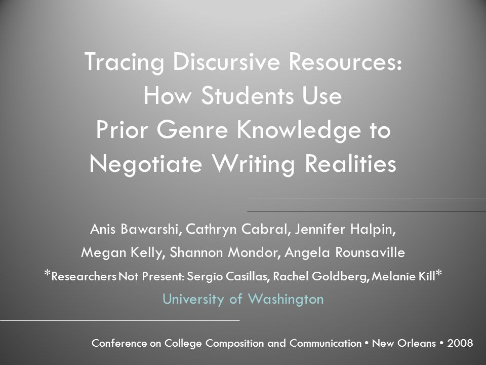Tracing Discursive Resources: How Students Use