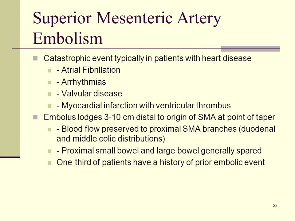 Superior Mesenteric Artery Embolism