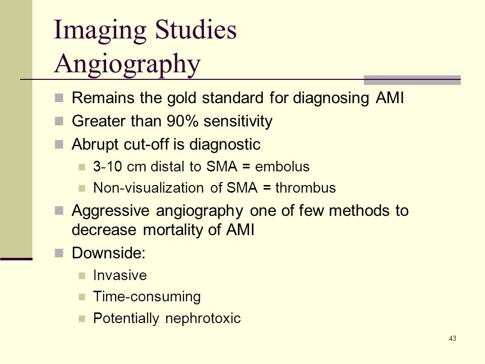 Imaging Studies Angiography
