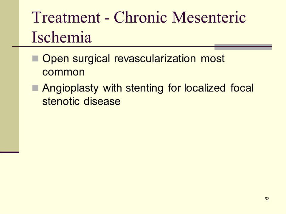 Treatment - Chronic Mesenteric Ischemia