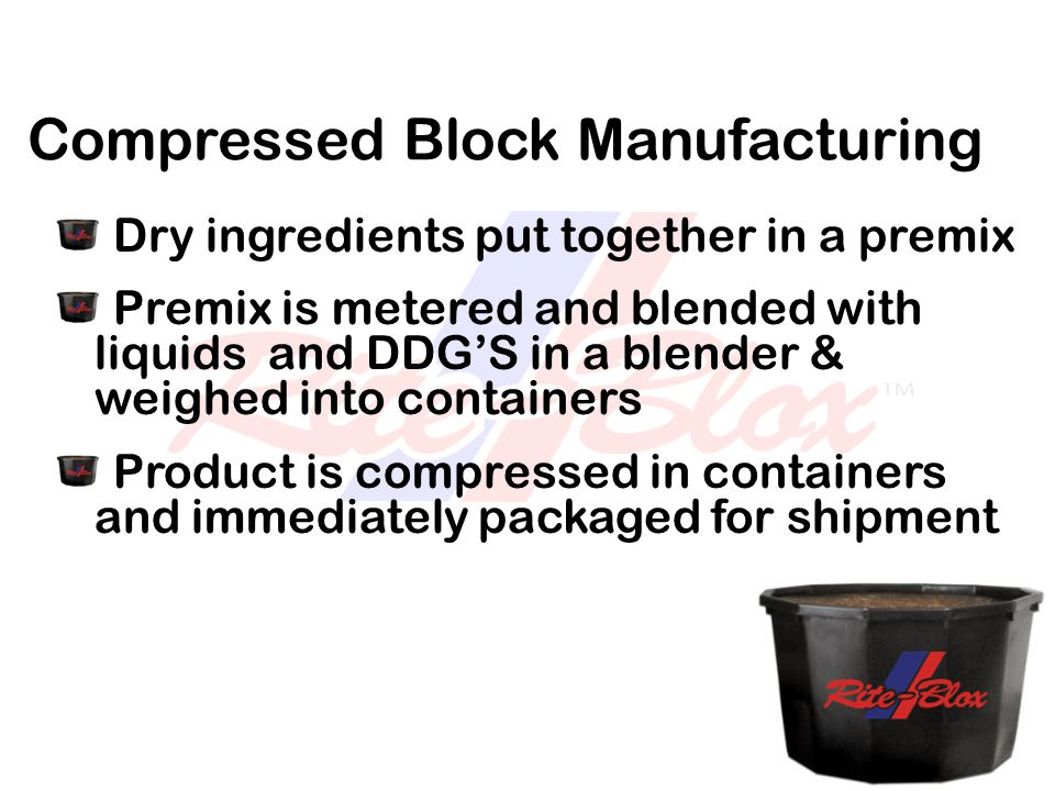 Compressed Block Manufacturing