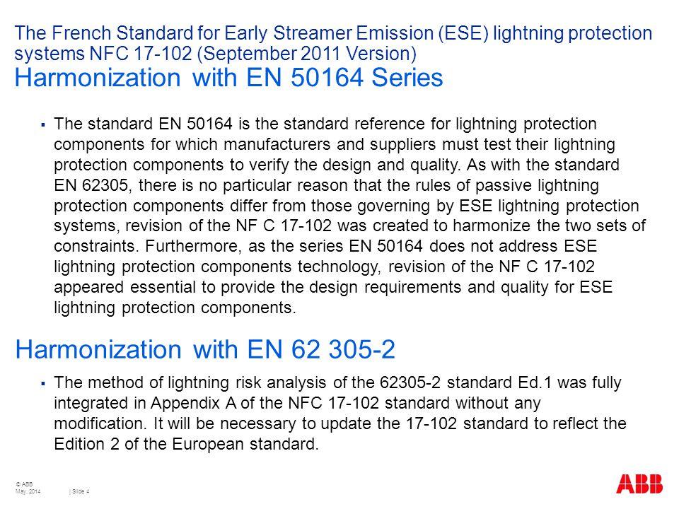 Harmonization with EN 62 305-2
