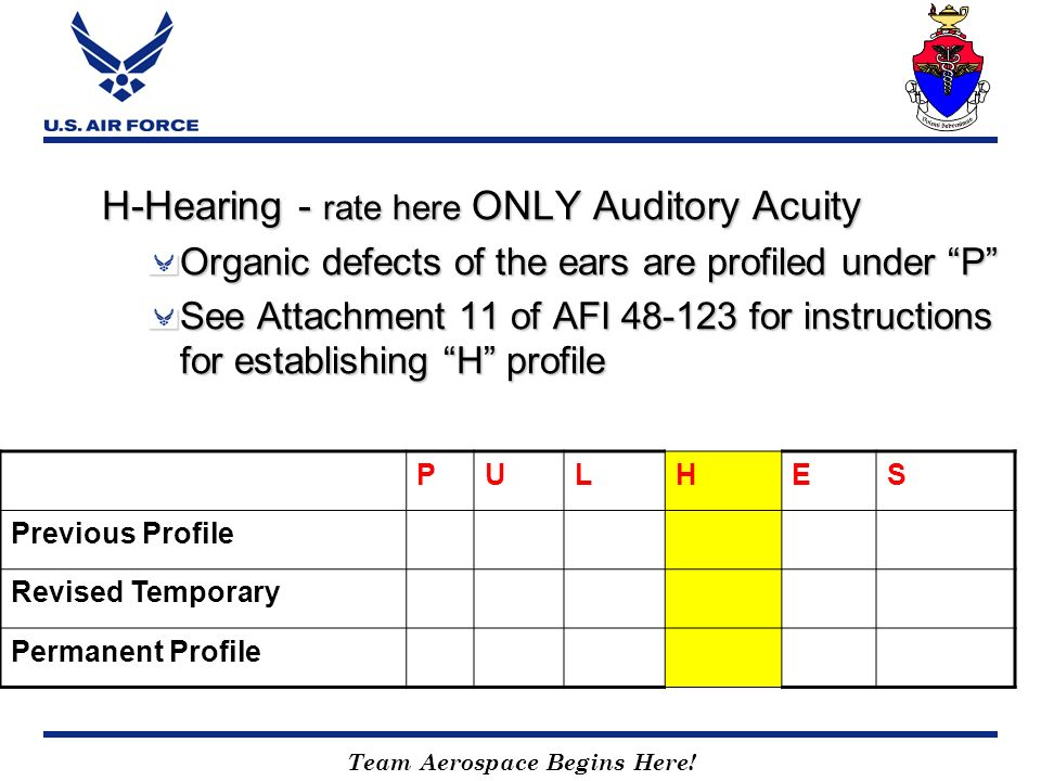 H-Hearing - rate here ONLY Auditory Acuity