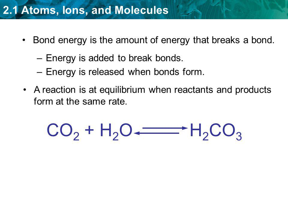 Bond energy is the amount of energy that breaks a bond.