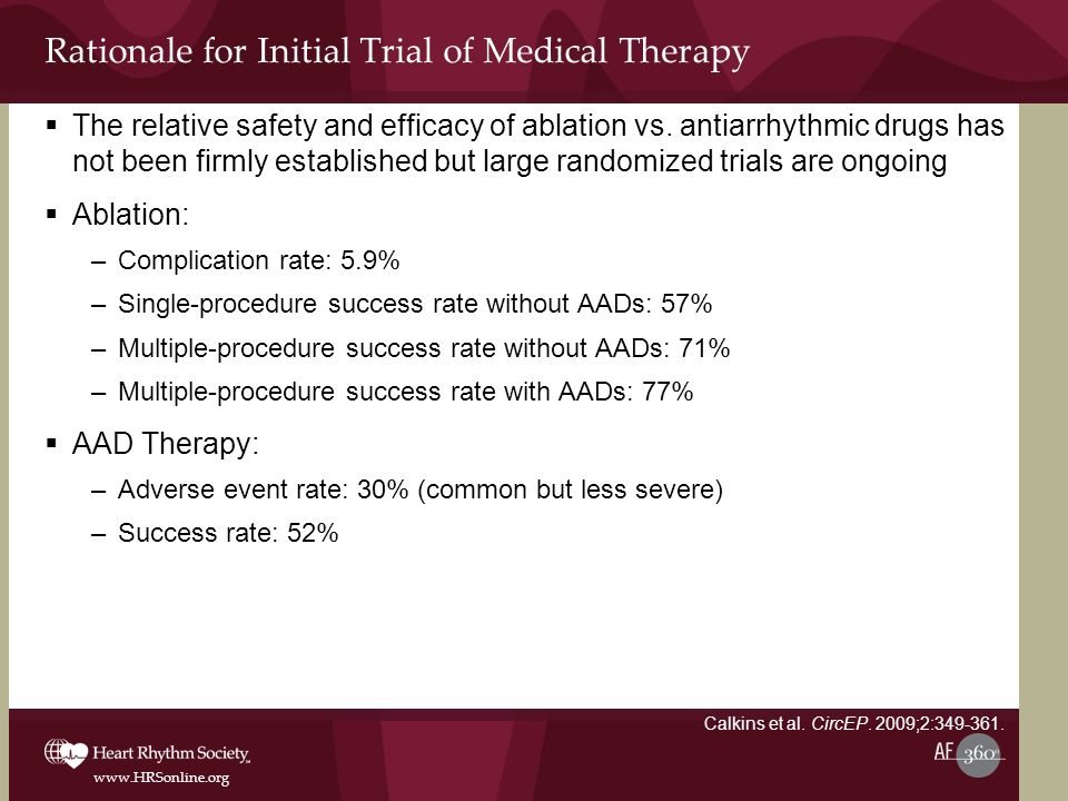 Rationale for Initial Trial of Medical Therapy