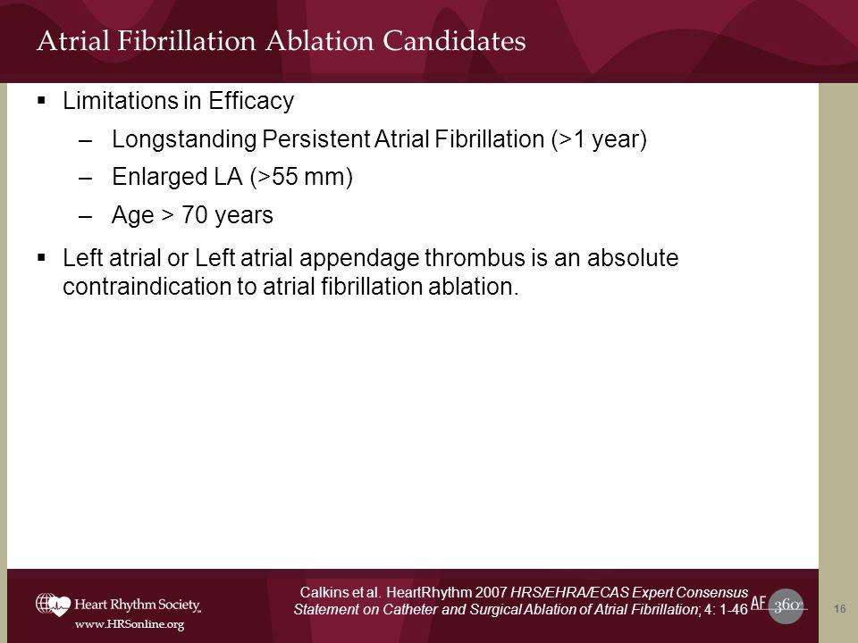 Atrial Fibrillation Ablation Candidates