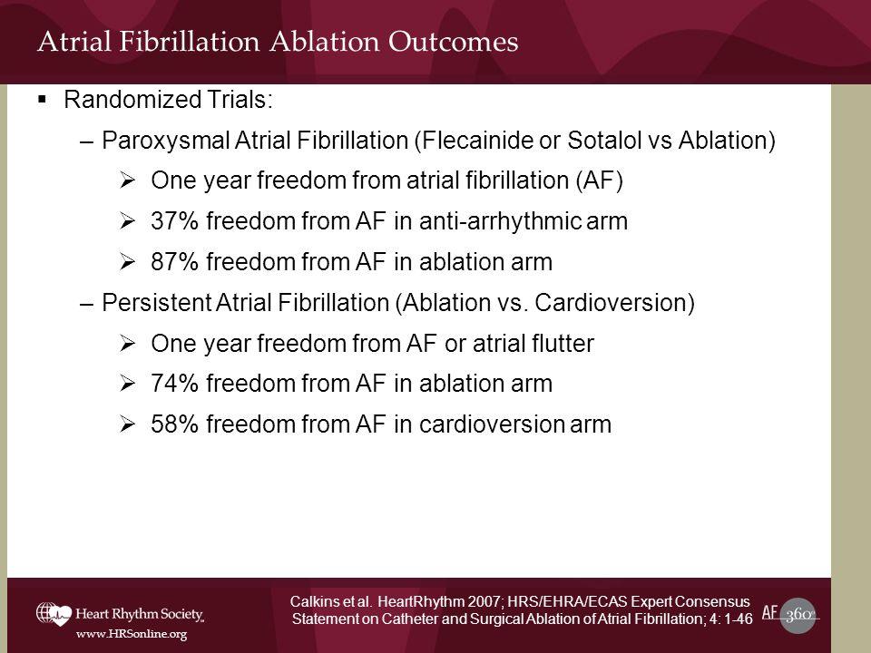 Atrial Fibrillation Ablation Outcomes