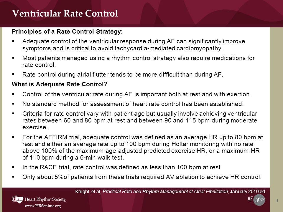 Ventricular Rate Control