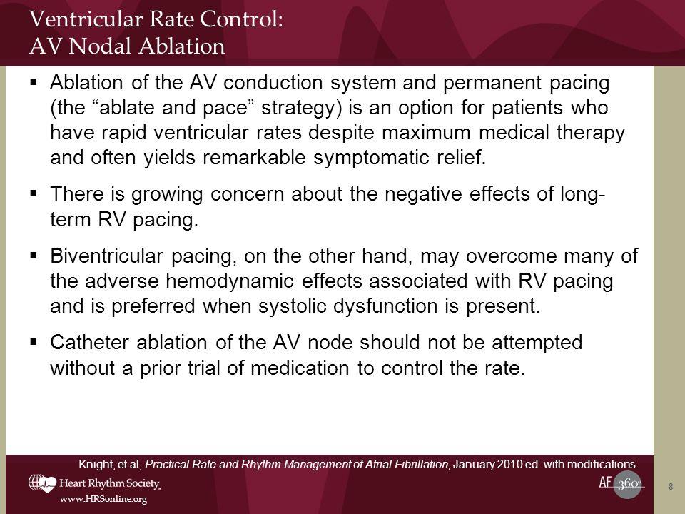 Ventricular Rate Control: AV Nodal Ablation