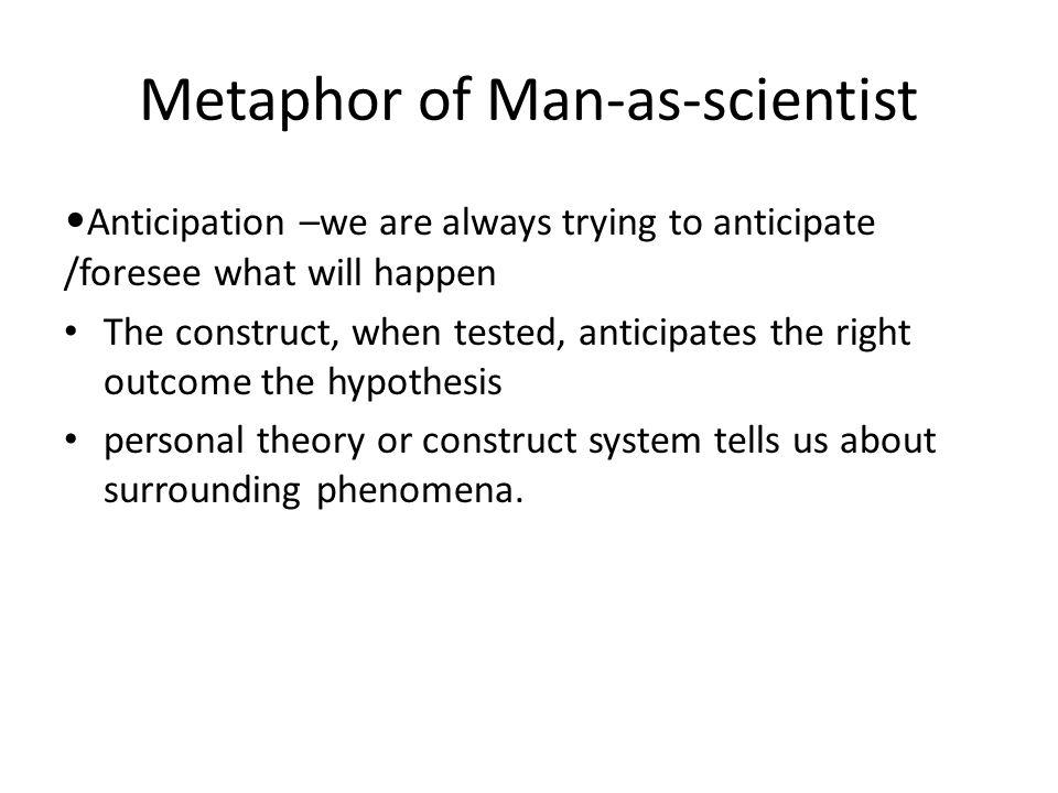 Metaphor of Man-as-scientist