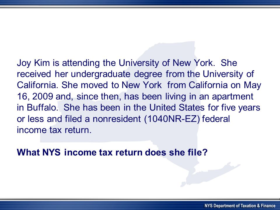 Joy Kim is attending the University of New York